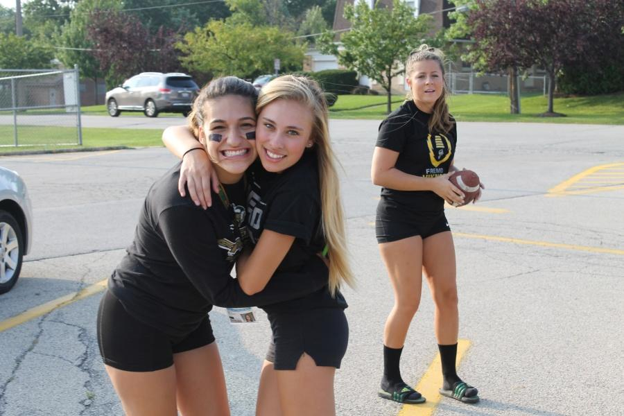Left to right: Juniors Gillian Gould, Cameron Vega, and Kayla Colby