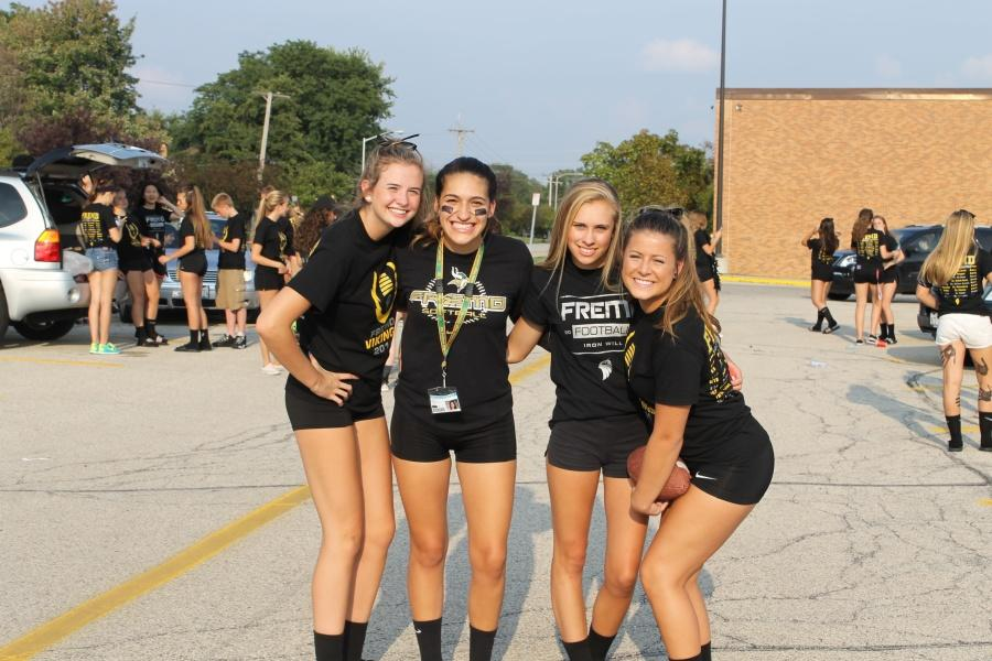 Left to right: Sophomore Teagan Hamontree and juniors Gillian Gould, Cam Vega, and Kayla Colby