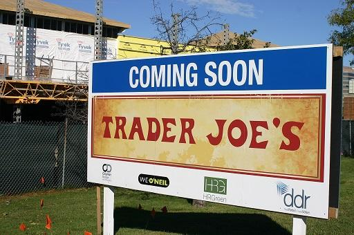 Construction of a new Trader Joe's is already underway at the Woodfield Village Green (Photo Courtesy: Christina Miller).