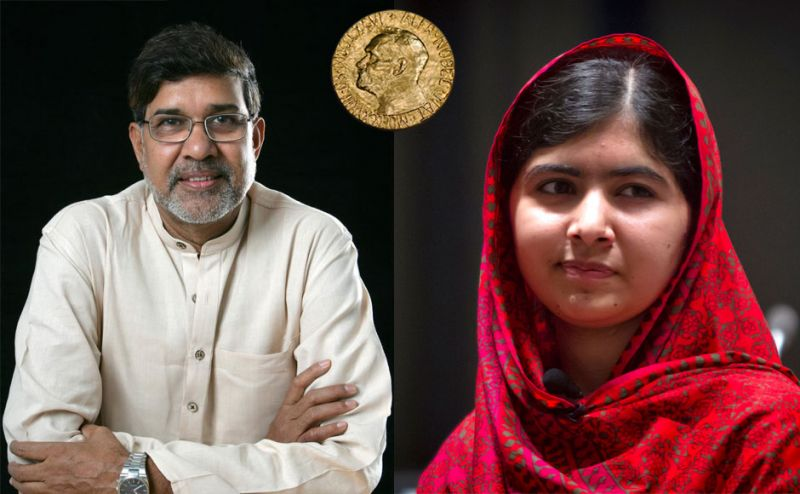 Indian Kailash Satyarthi (left) and Pakistani Malala Yousafzai (right) – both human rights activists – were named co-winners of the Nobel Peace Prize on October 10. Internet photo courtesy of the Guardian.