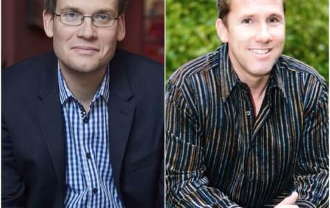 John Green (L), Nicholas Sparks (R). Internet photo.