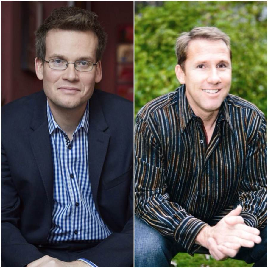 John Green (L), Nicholas Sparks (R). Internet photo.
