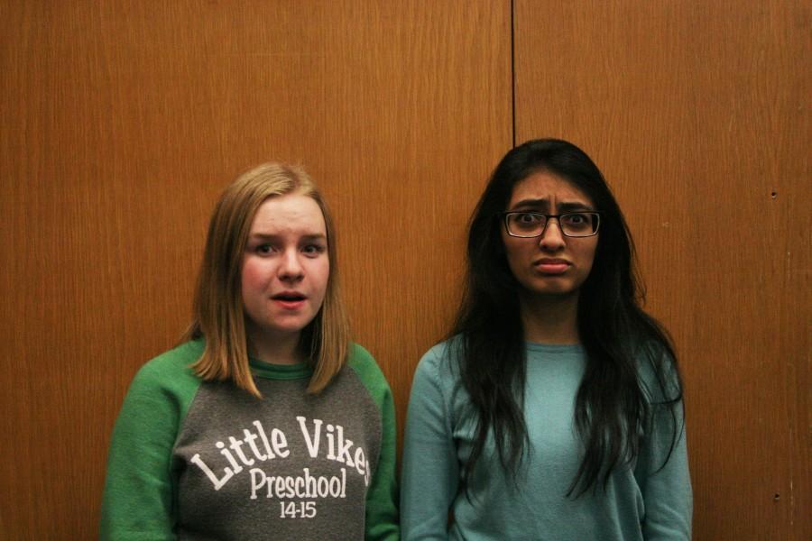 Juniors Melanie Stevens and Imama Khawaja