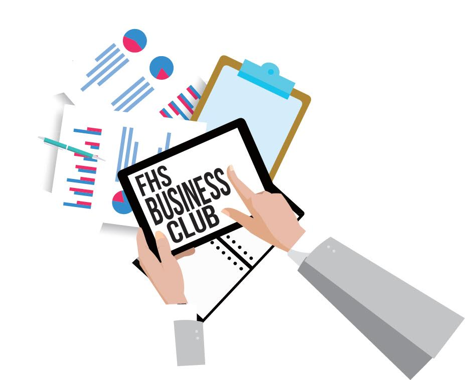For many students  business principles remain relatively unknown, but Fremd's Business Club hopes to expose students to them. (Graphic by Hannah Horton)