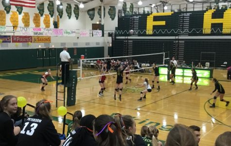 Girls volleyball shuts down Conant in senior night victory