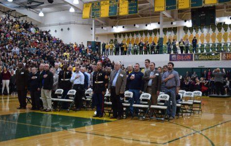 Fremd students salute service members during Veterans Week