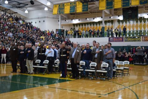 Fremd students salute service members during Veterans Week