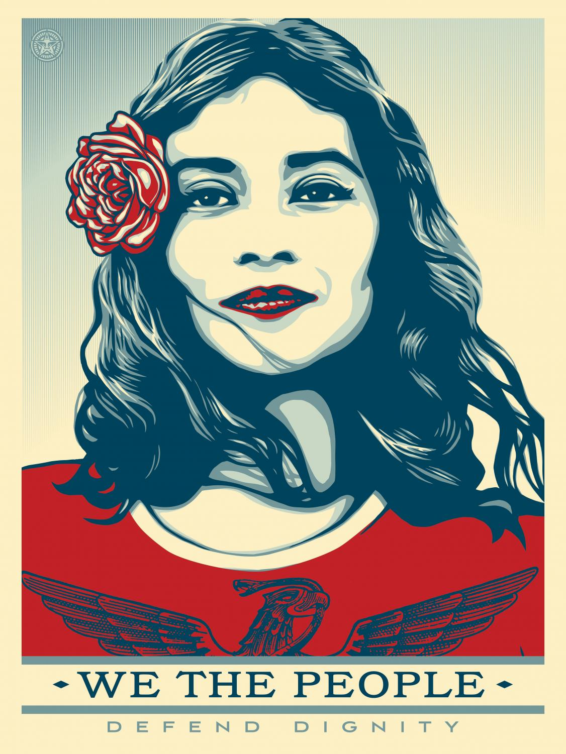 Illustration by Shepard Fairey from the We The People campaign.